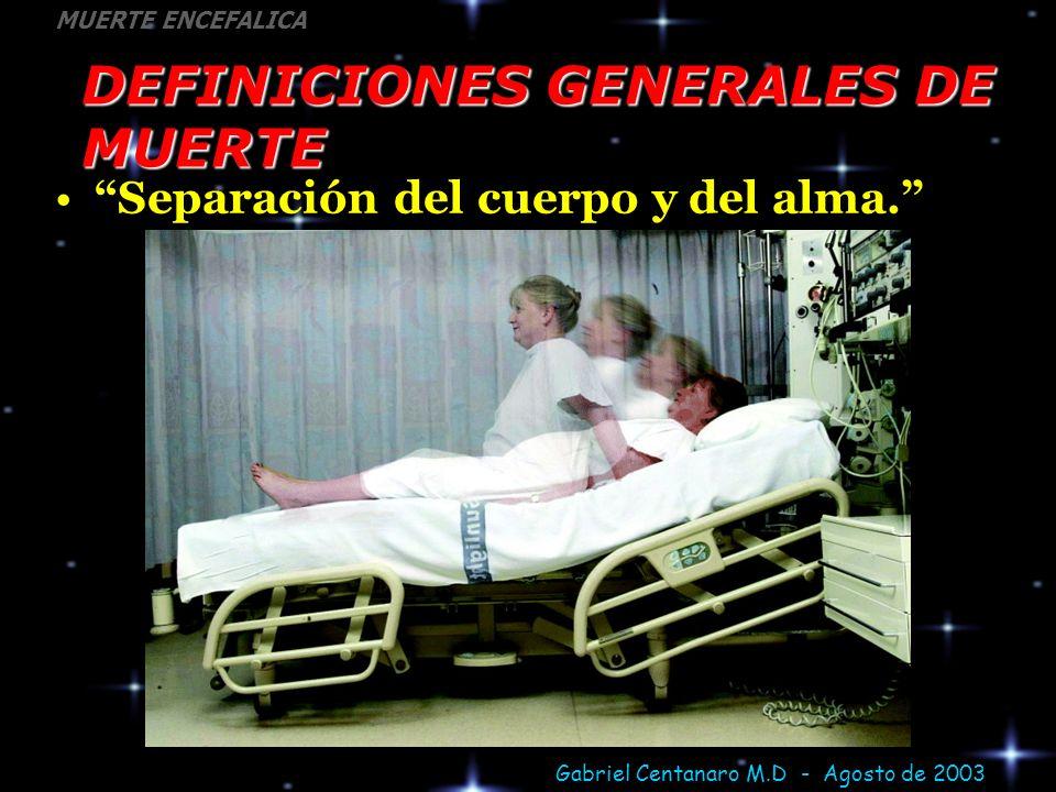 DEFINICIONES GENERALES DE MUERTE