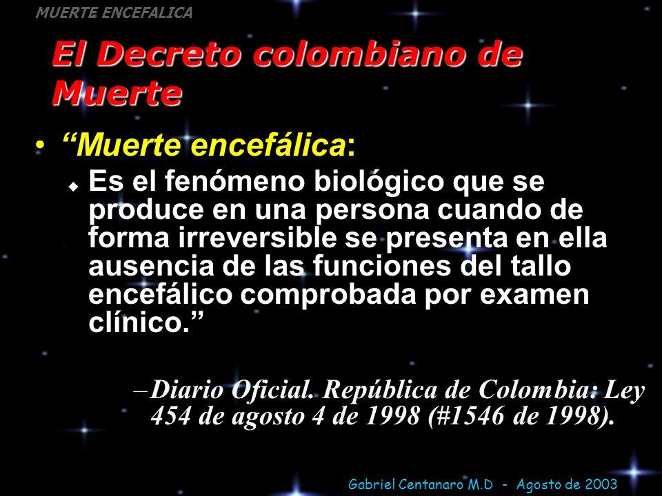 El Decreto colombiano de Muerte