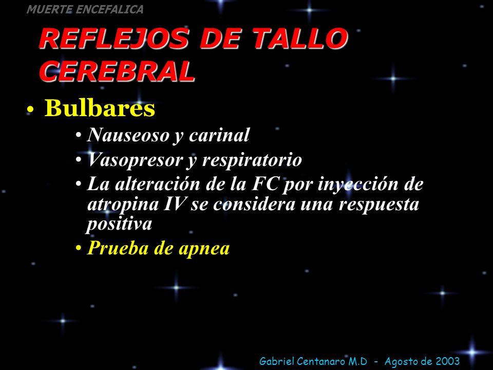REFLEJOS DE TALLO CEREBRAL