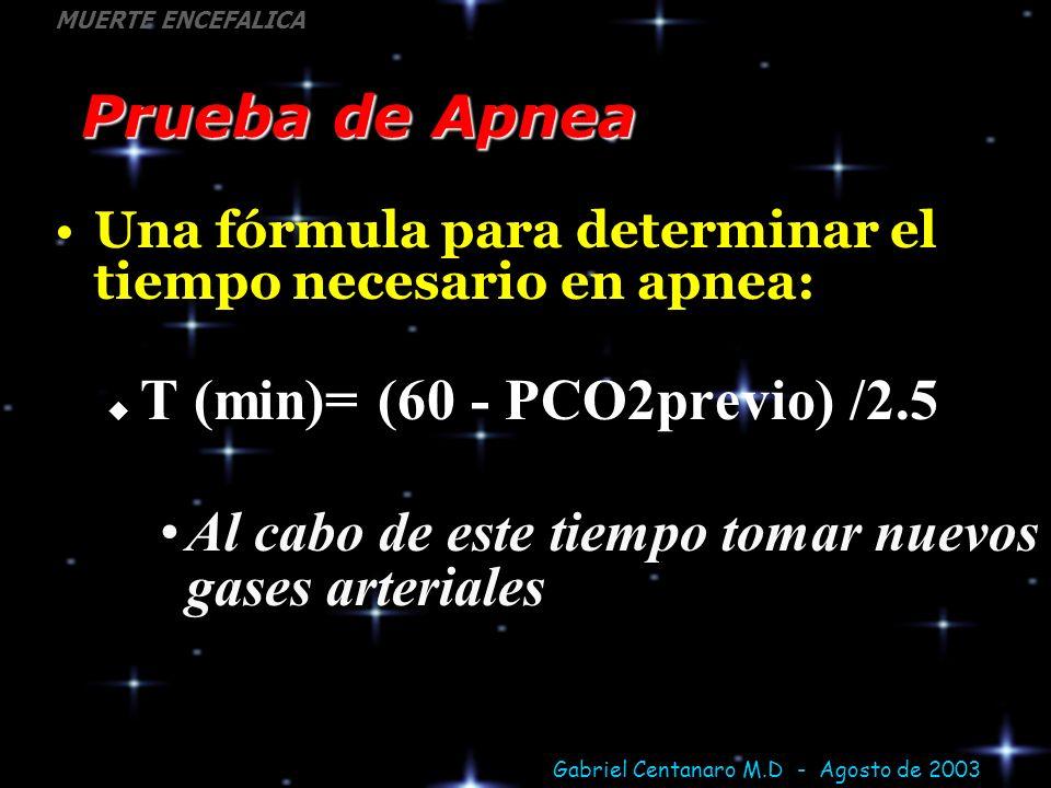 T (min)= (60 - PCO2previo) /2.5