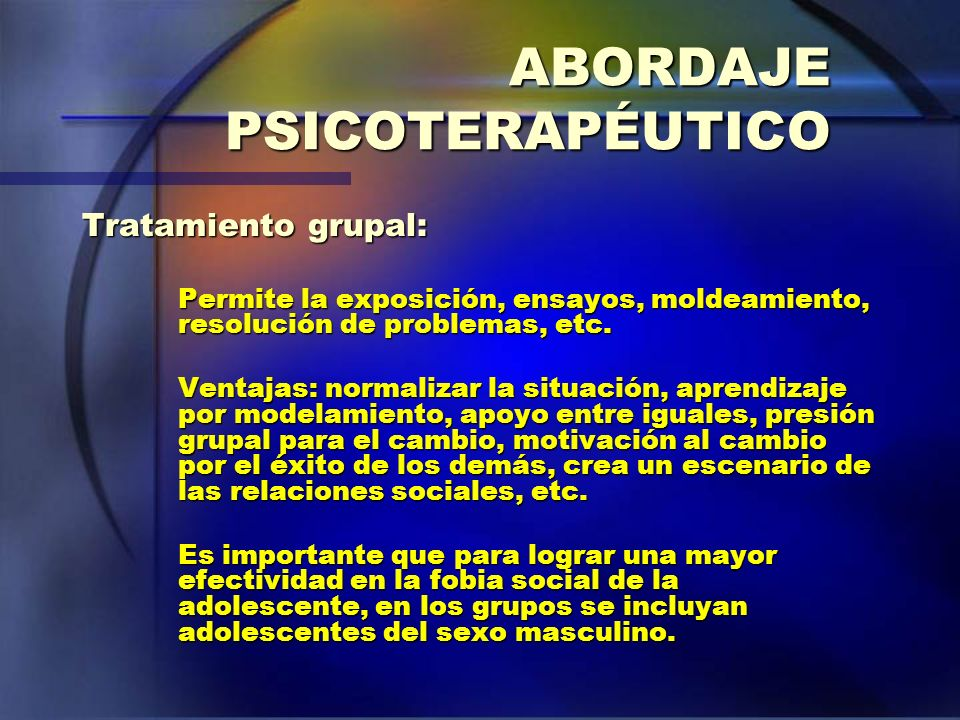 ABORDAJE PSICOTERAPÉUTICO