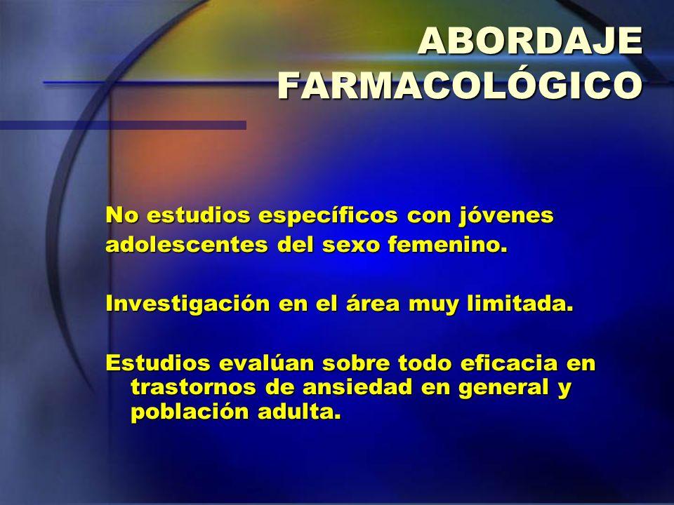 ABORDAJE FARMACOLÓGICO