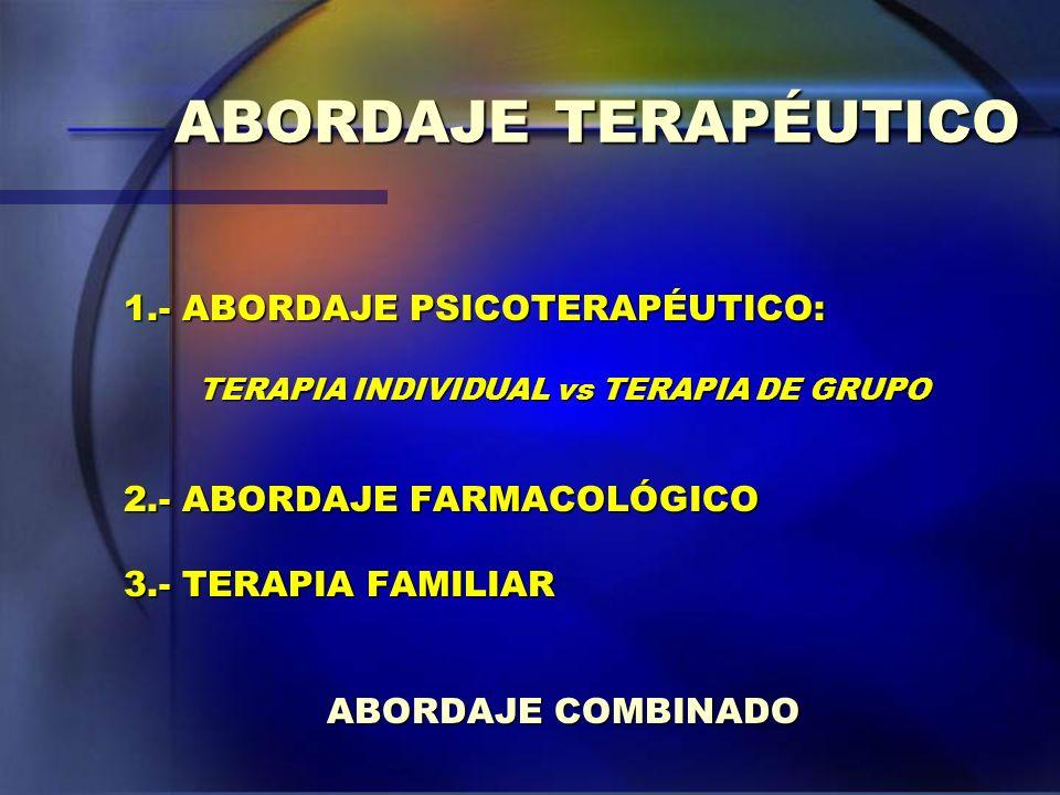 TERAPIA INDIVIDUAL vs TERAPIA DE GRUPO
