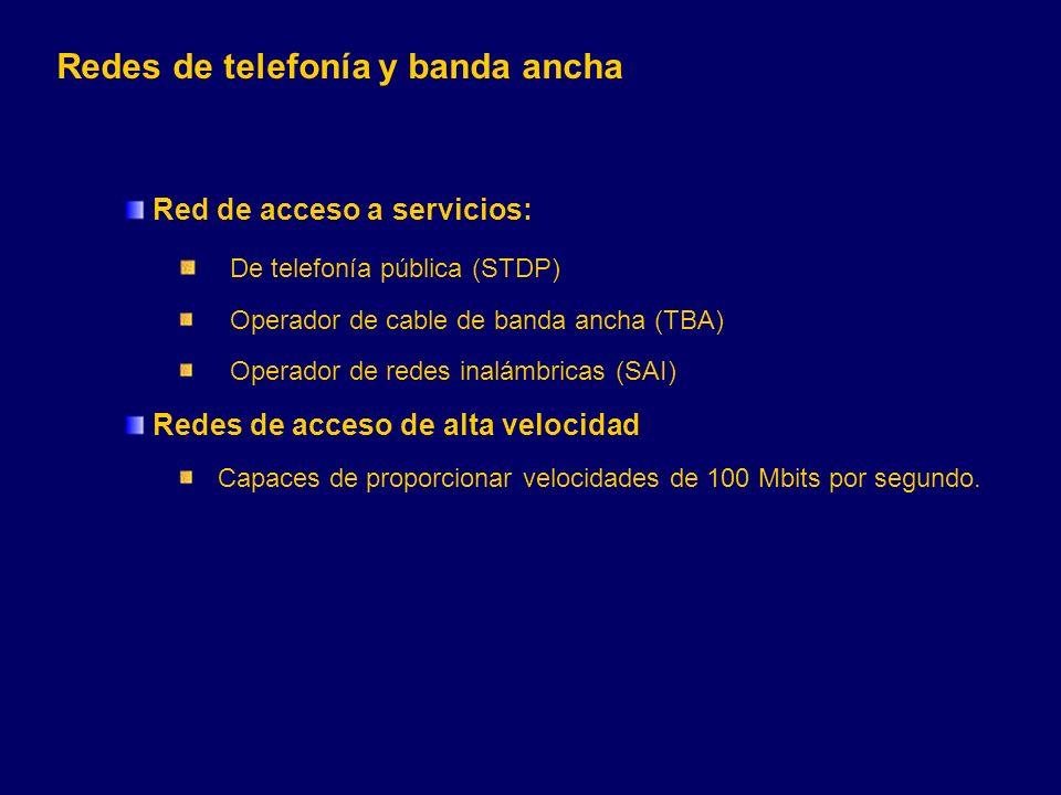 Redes de telefonía y banda ancha