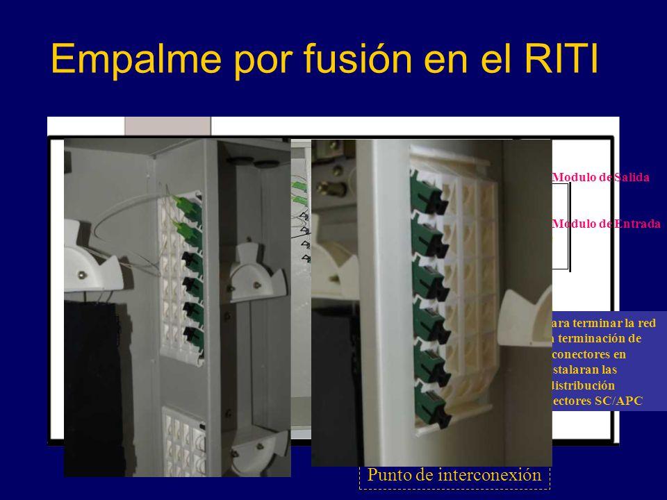 Empalme por fusión en el RITI