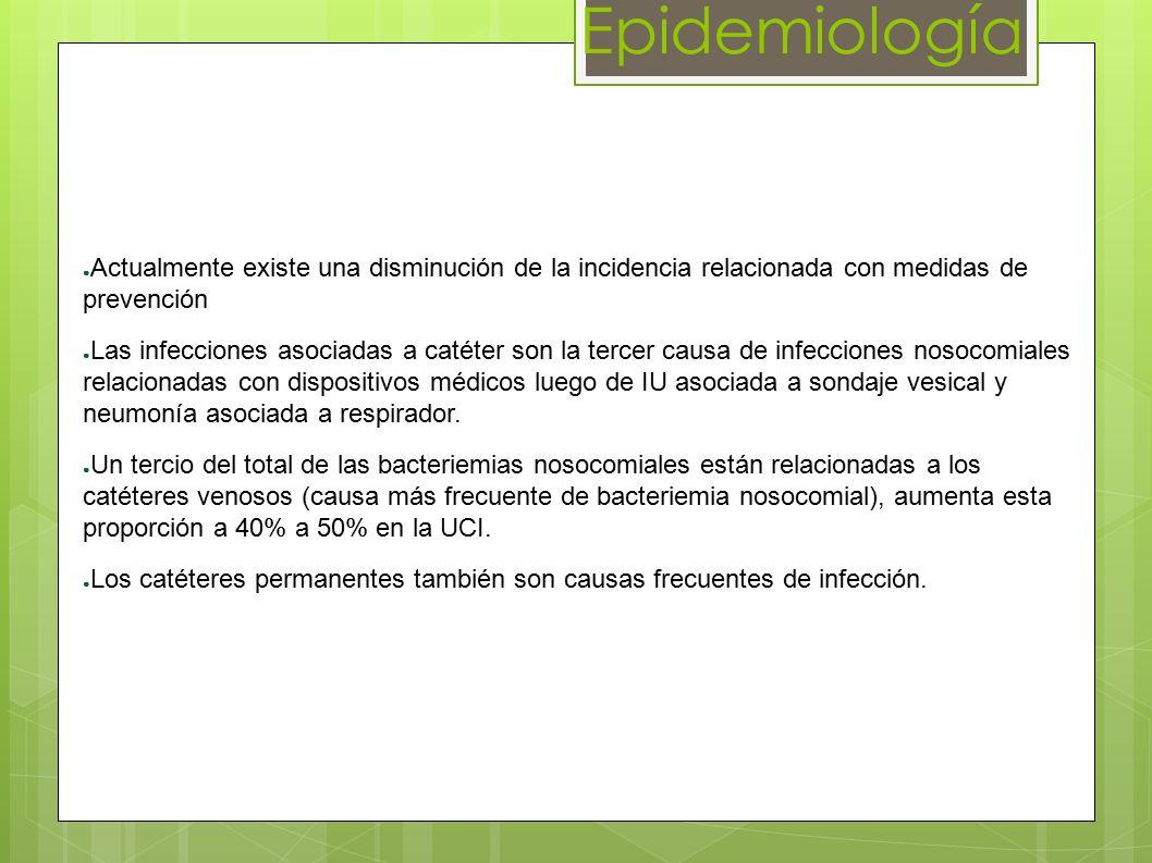 Epidemiología Actualmente existe una disminución de la incidencia relacionada con medidas de prevención.