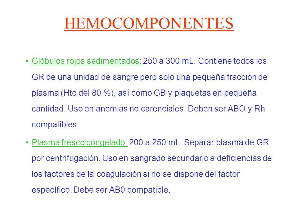 HEMOCOMPONENTES