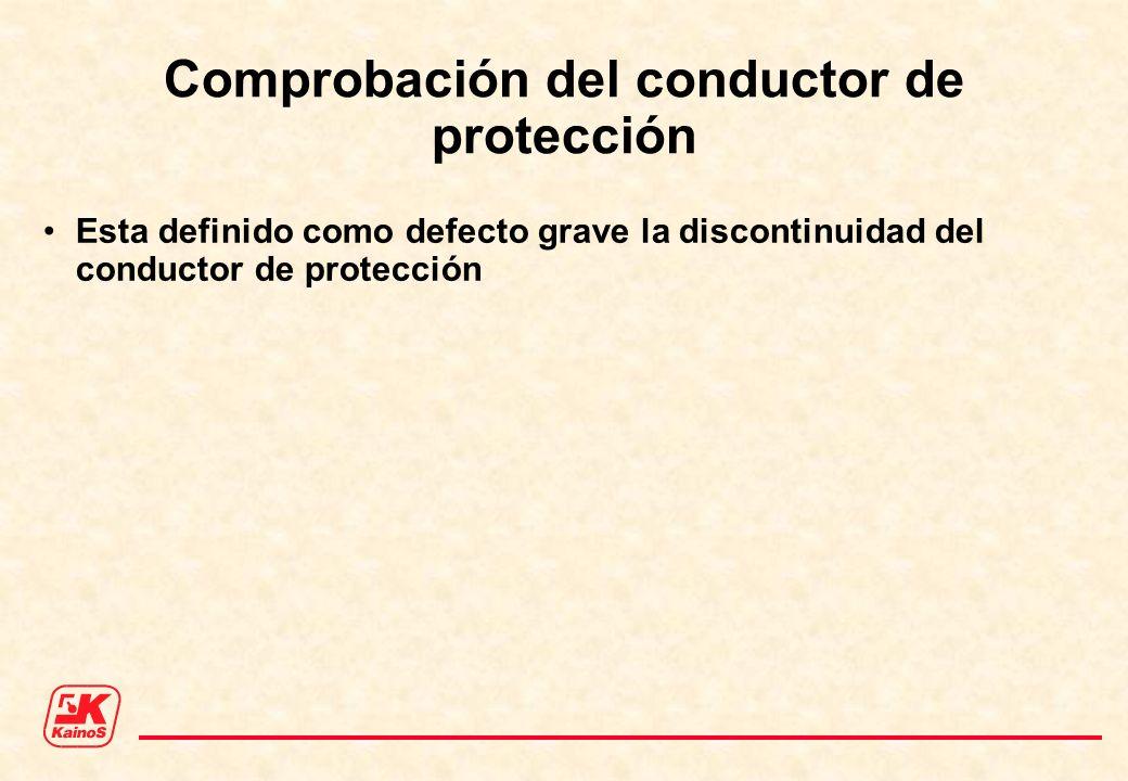 Comprobación del conductor de protección