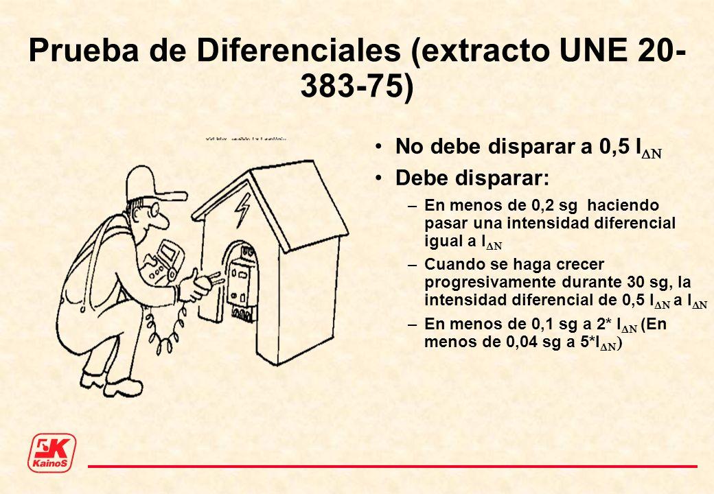 Prueba de Diferenciales (extracto UNE 20-383-75)