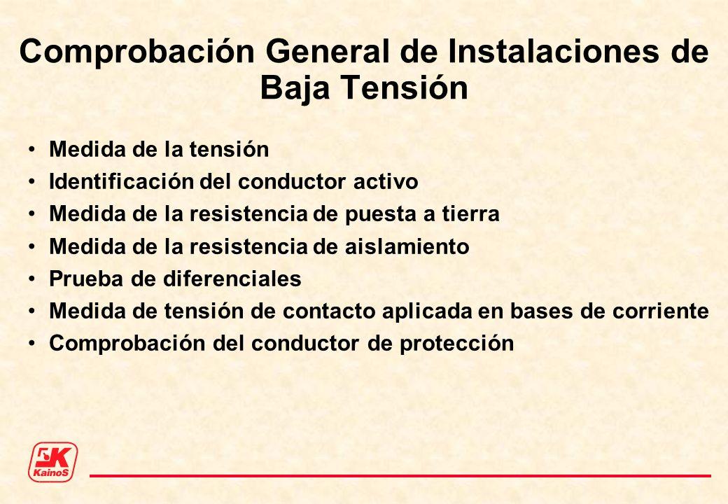 Comprobación General de Instalaciones de Baja Tensión