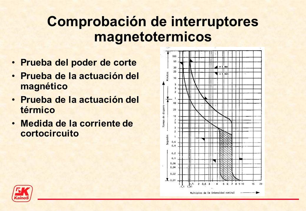 Comprobación de interruptores magnetotermicos