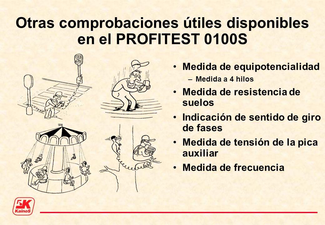 Otras comprobaciones útiles disponibles en el PROFITEST 0100S