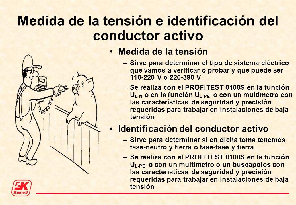 Medida de la tensión e identificación del conductor activo