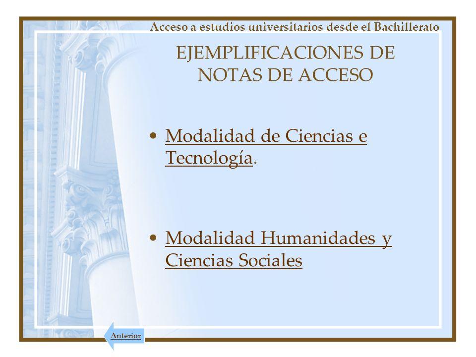 EJEMPLIFICACIONES DE NOTAS DE ACCESO
