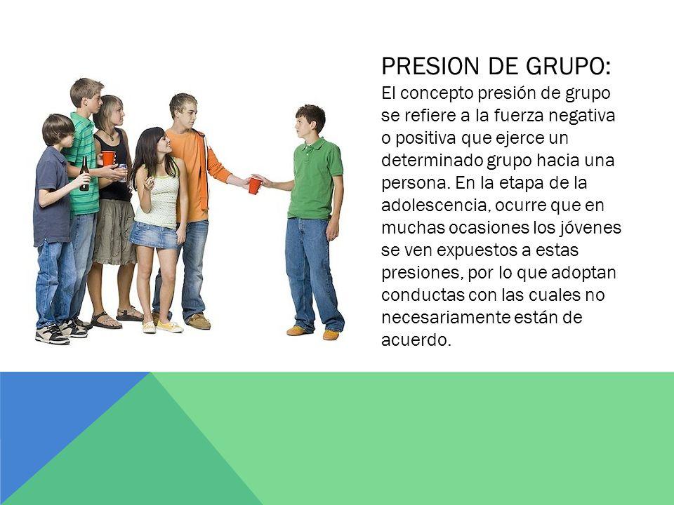 La presion de grupo y la drogadiccion ppt descargar - Grupo de presion ...