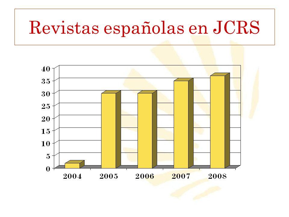 Revistas españolas en JCRS