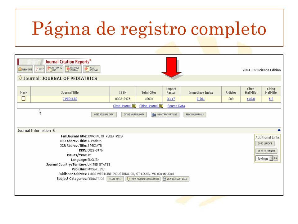 Página de registro completo