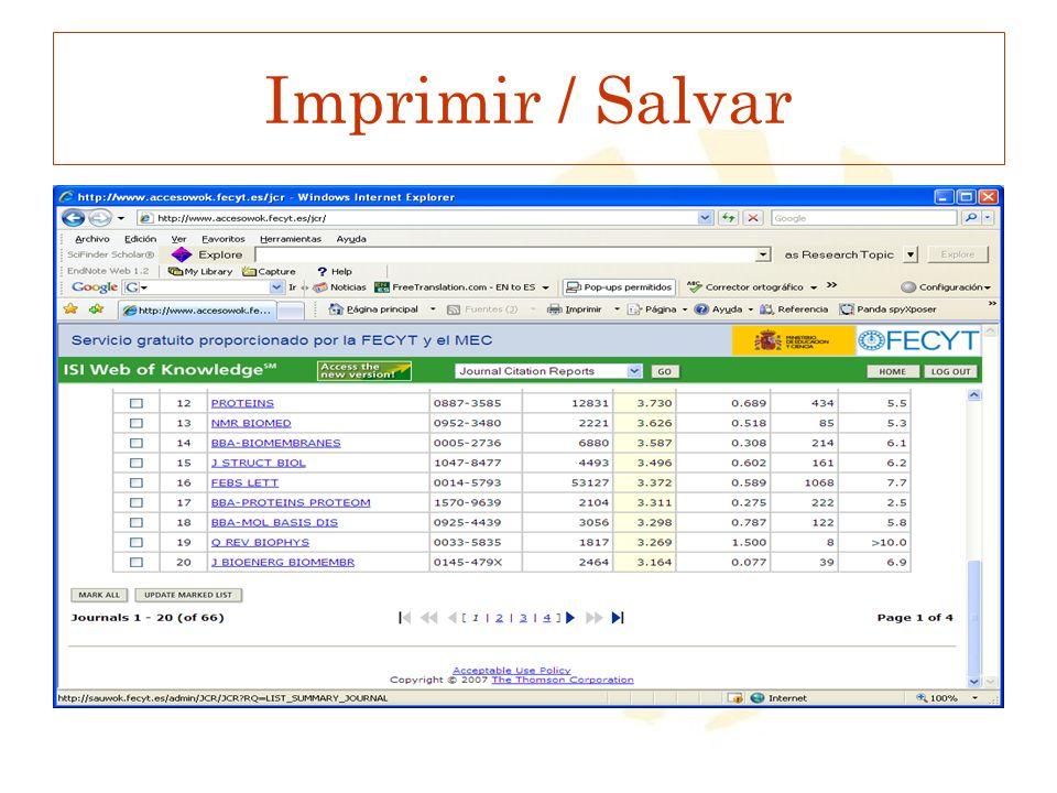 Imprimir / Salvar