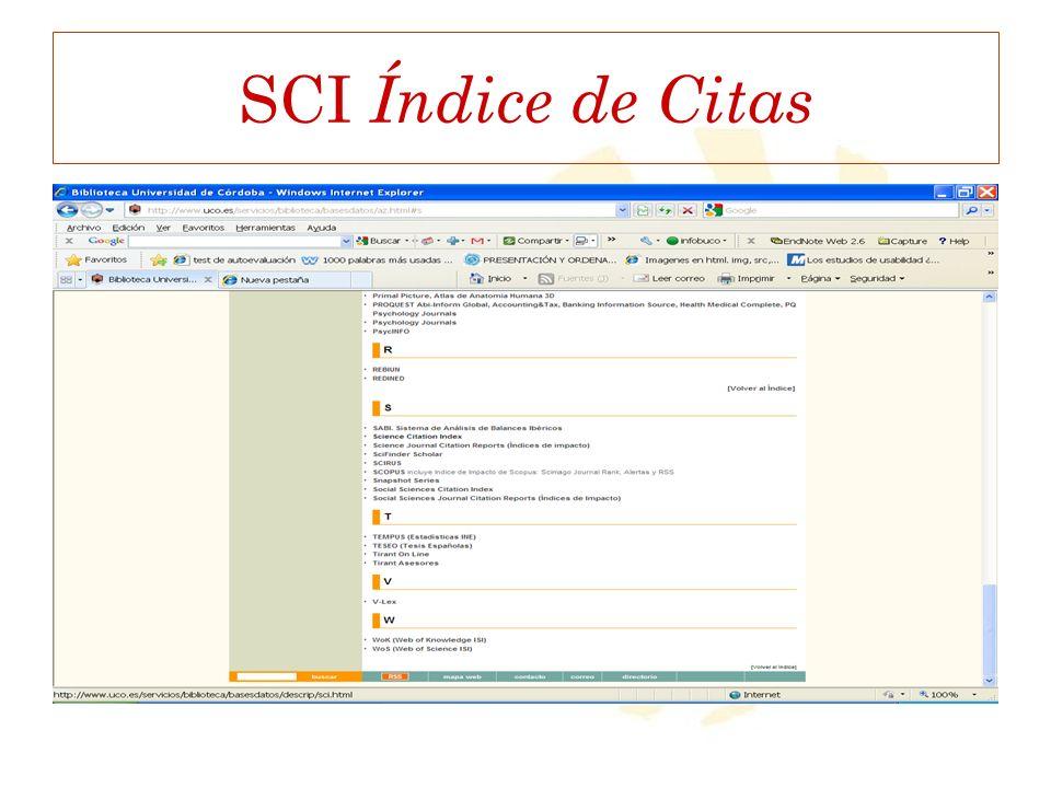SCI Índice de Citas