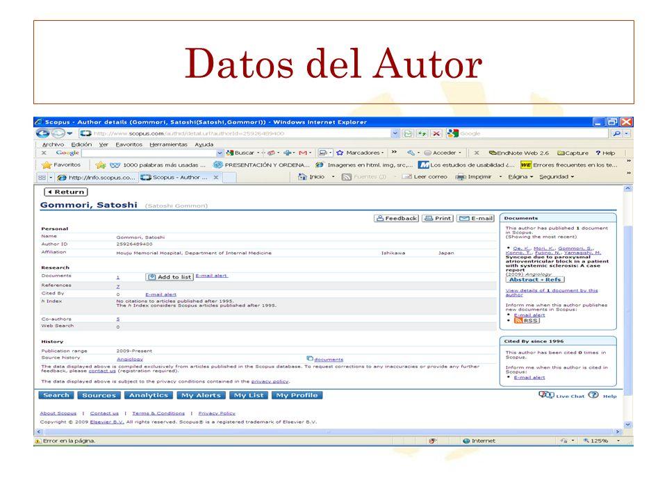 Datos del Autor