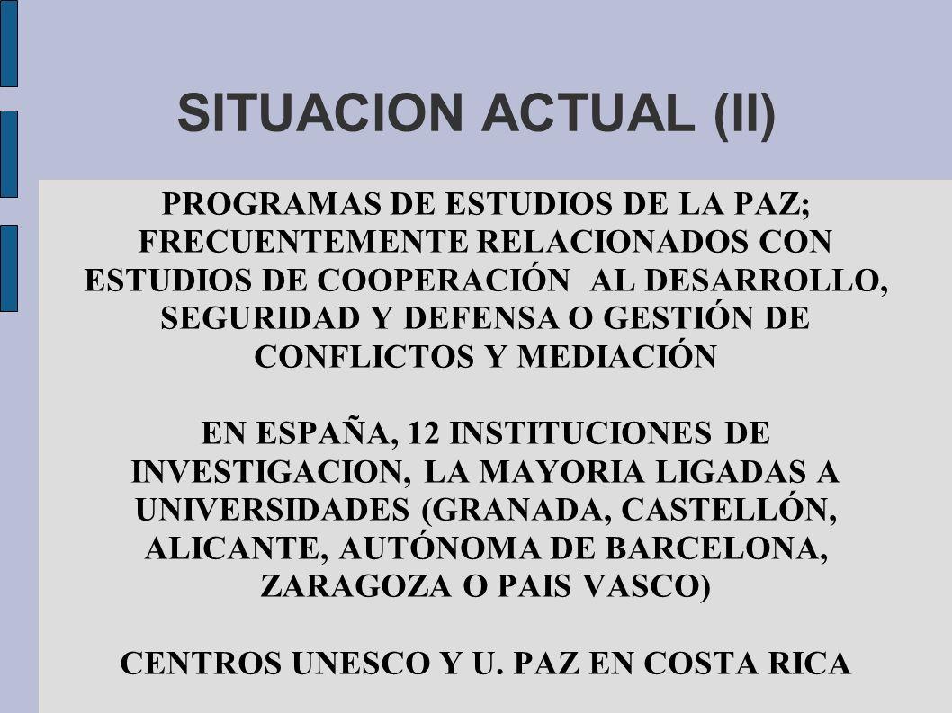 CENTROS UNESCO Y U. PAZ EN COSTA RICA