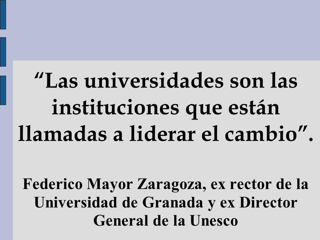 Las universidades son las instituciones que están llamadas a liderar el cambio .