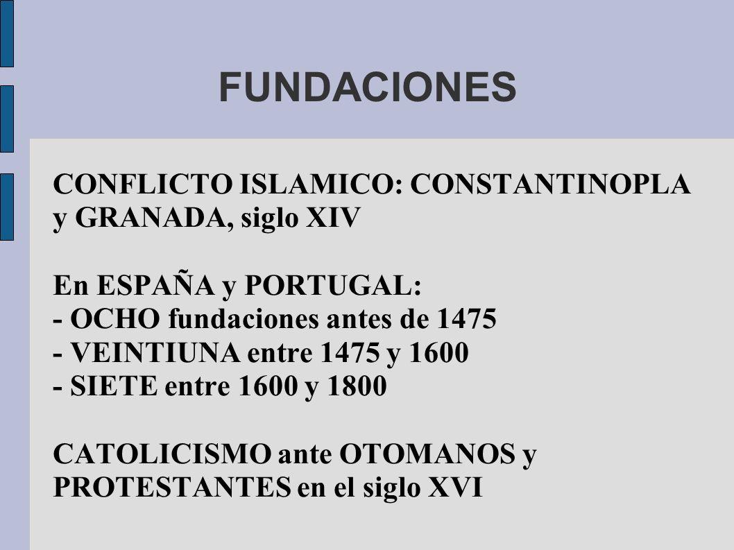FUNDACIONES CONFLICTO ISLAMICO: CONSTANTINOPLA y GRANADA, siglo XIV