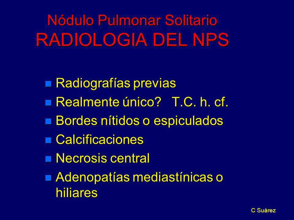 Nódulo Pulmonar Solitario RADIOLOGIA DEL NPS
