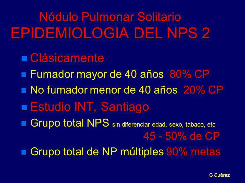 Nódulo Pulmonar Solitario EPIDEMIOLOGIA DEL NPS 2