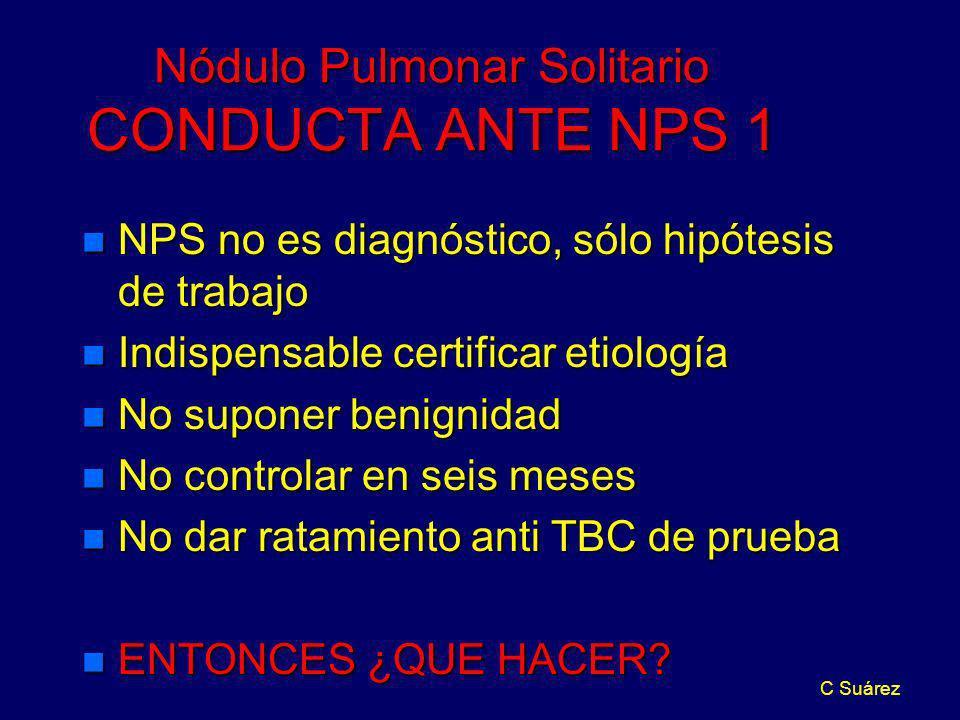 Nódulo Pulmonar Solitario CONDUCTA ANTE NPS 1