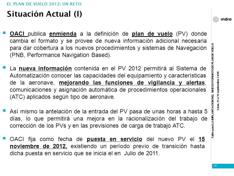 EL PLAN DE VUELO 2012: UN RETO