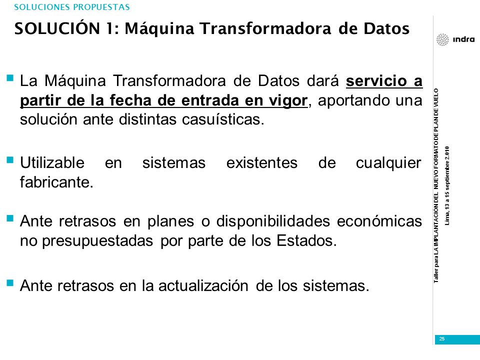SOLUCIÓN 1: Máquina Transformadora de Datos