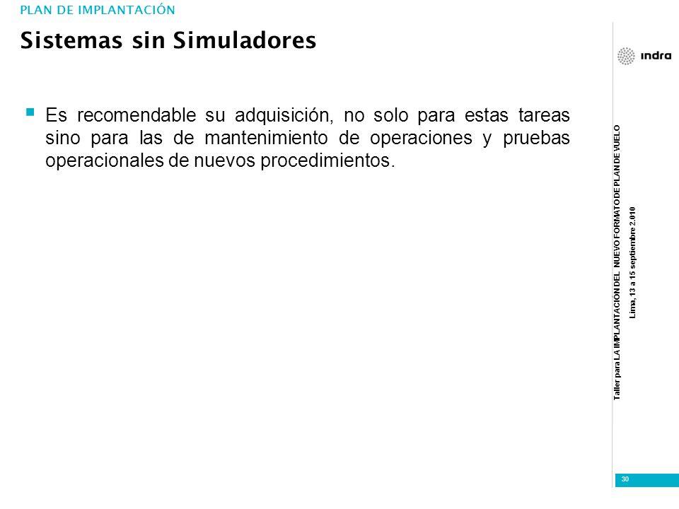 Sistemas sin Simuladores