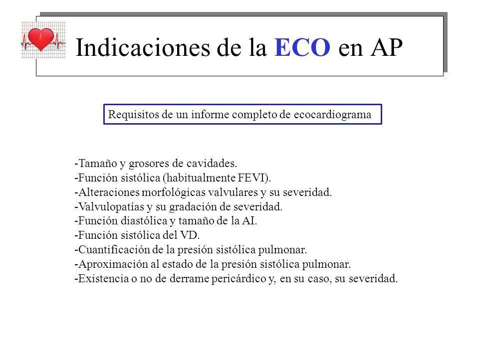 Indicaciones de la ECO en AP