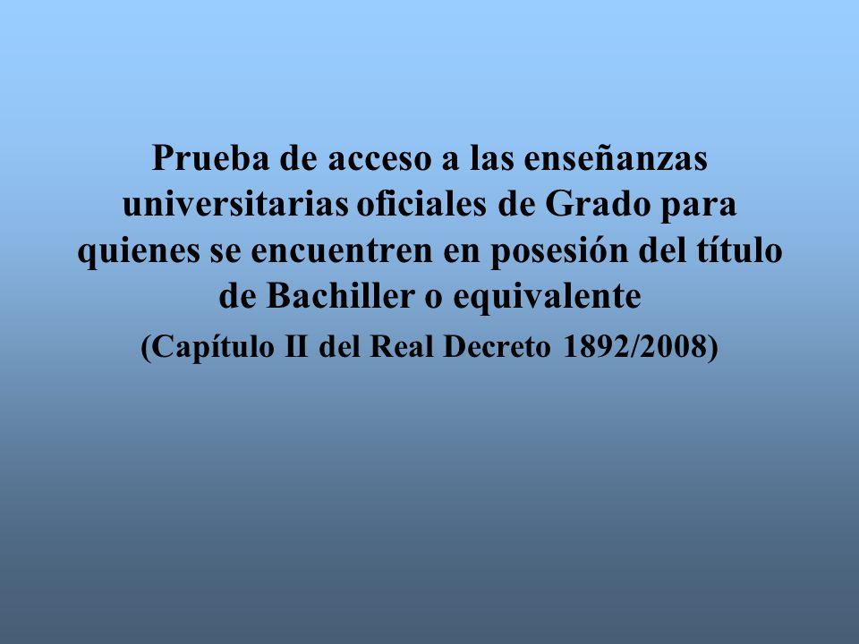 (Capítulo II del Real Decreto 1892/2008)