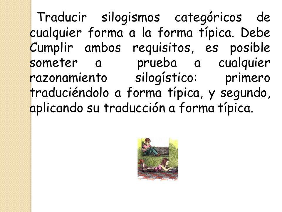 Traducir silogismos categóricos de cualquier forma a la forma típica
