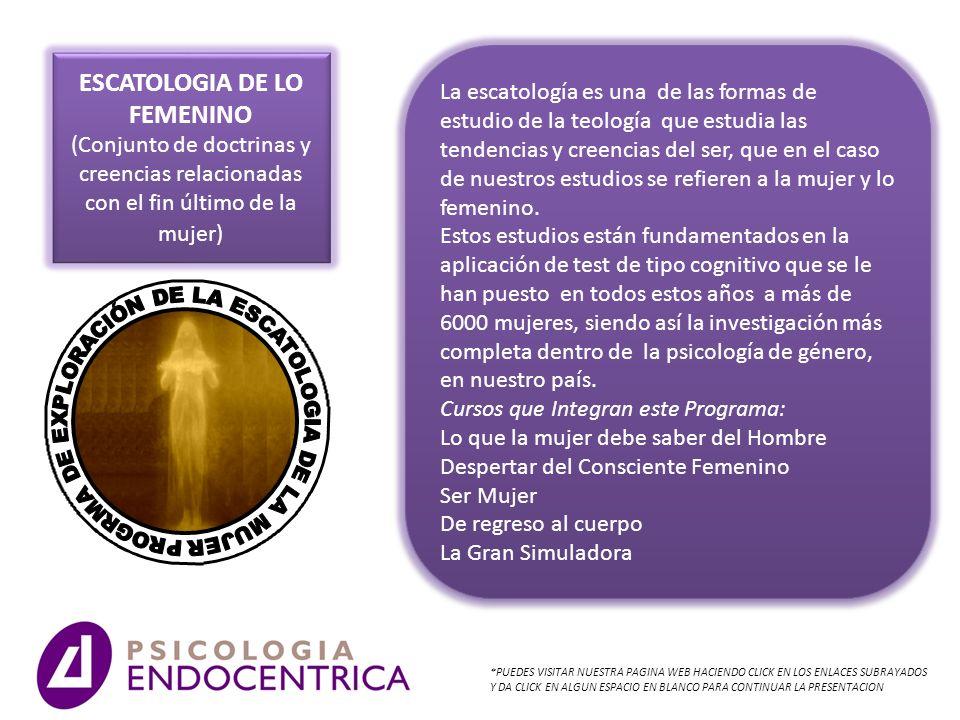 ESCATOLOGIA DE LO FEMENINO