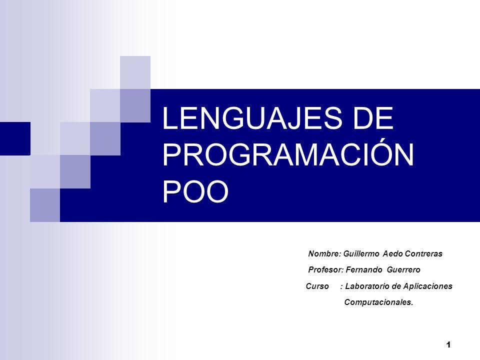 LENGUAJES DE PROGRAMACIÓN POO