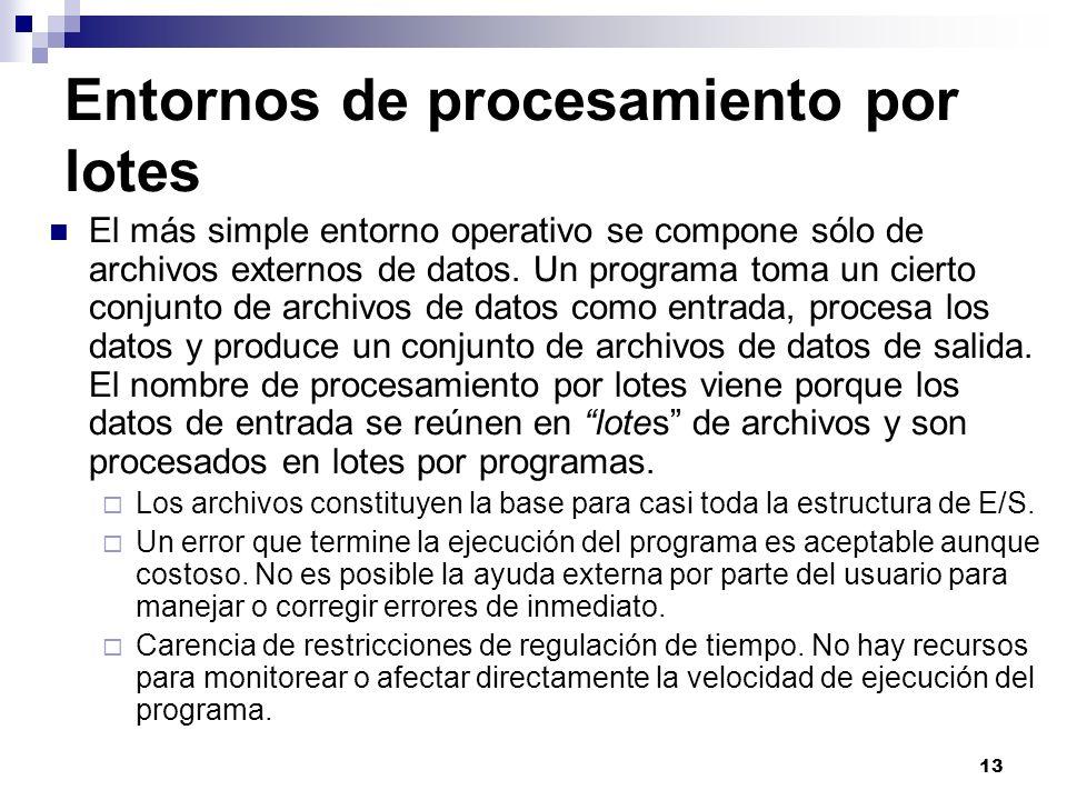 Entornos de procesamiento por lotes
