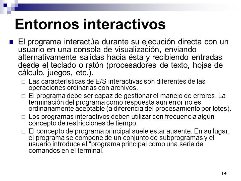 Entornos interactivos