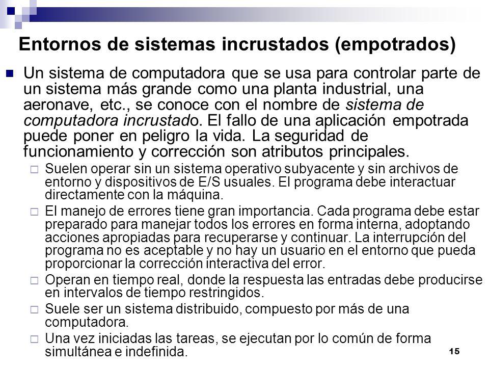 Entornos de sistemas incrustados (empotrados)
