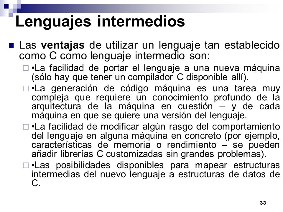Lenguajes intermedios