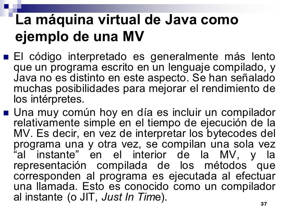 La máquina virtual de Java como ejemplo de una MV