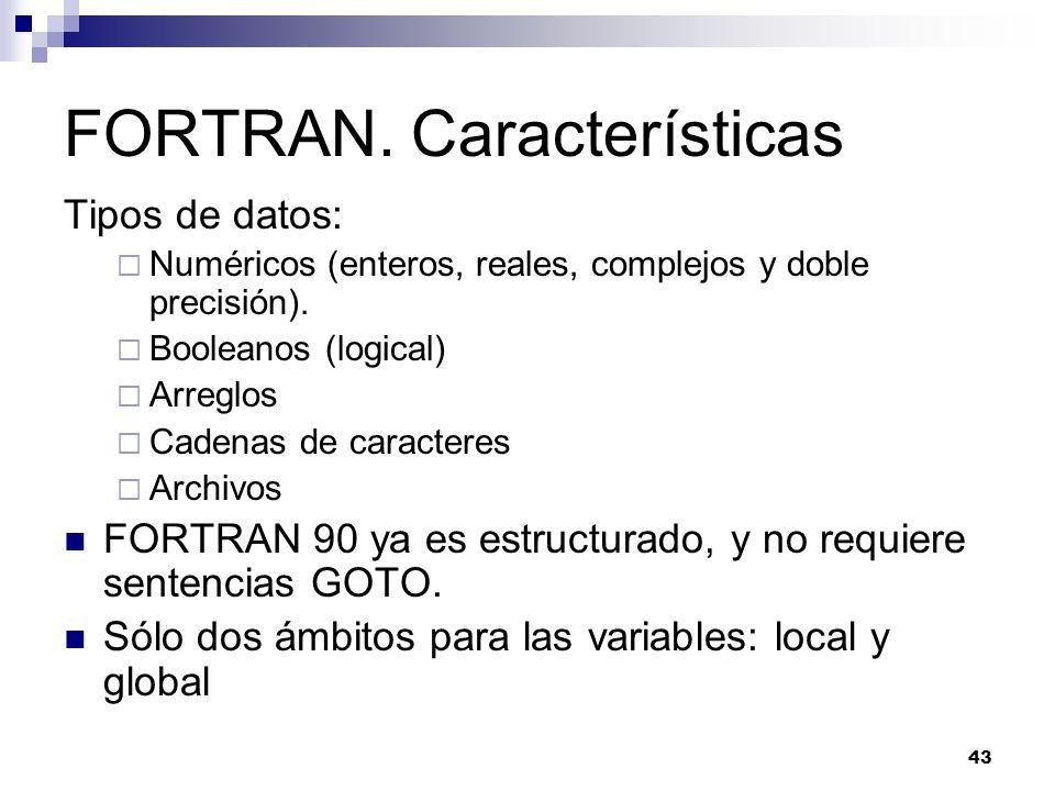 FORTRAN. Características