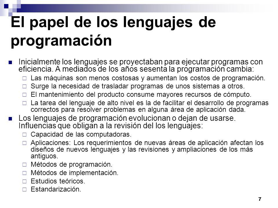 El papel de los lenguajes de programación