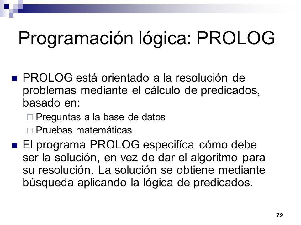 Programación lógica: PROLOG