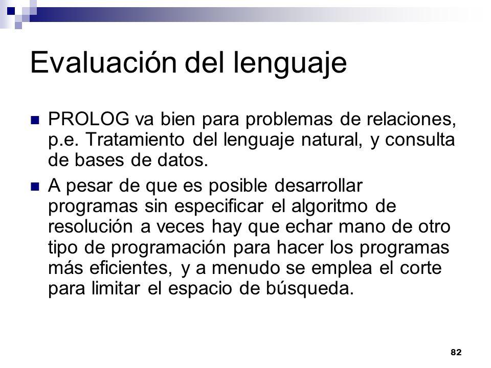 Evaluación del lenguaje