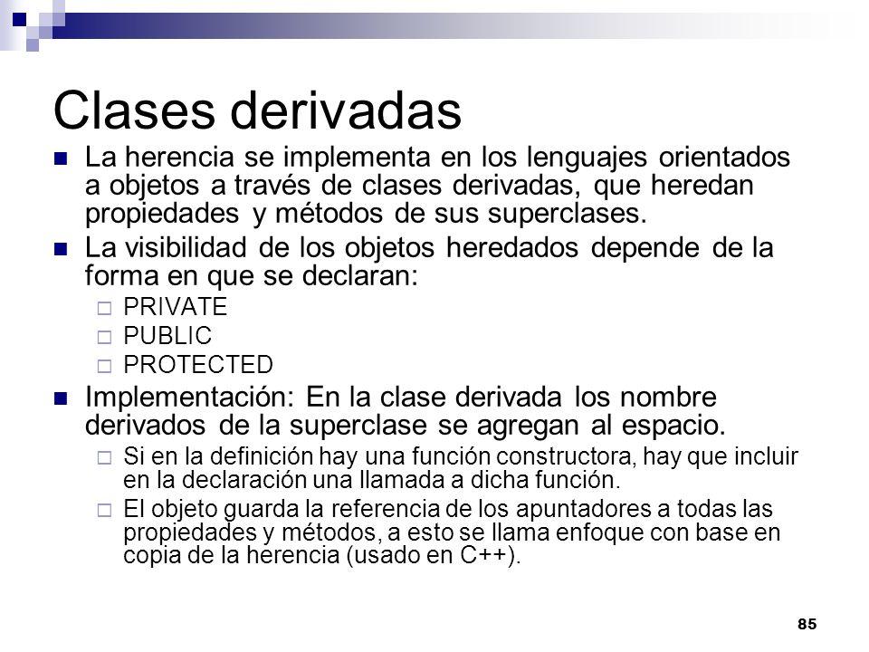 Clases derivadas