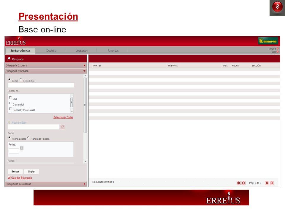 Presentación Base on-line