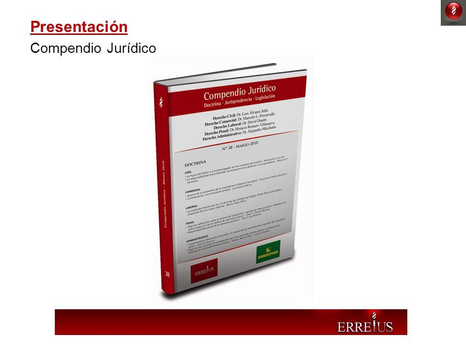 Presentación Compendio Jurídico